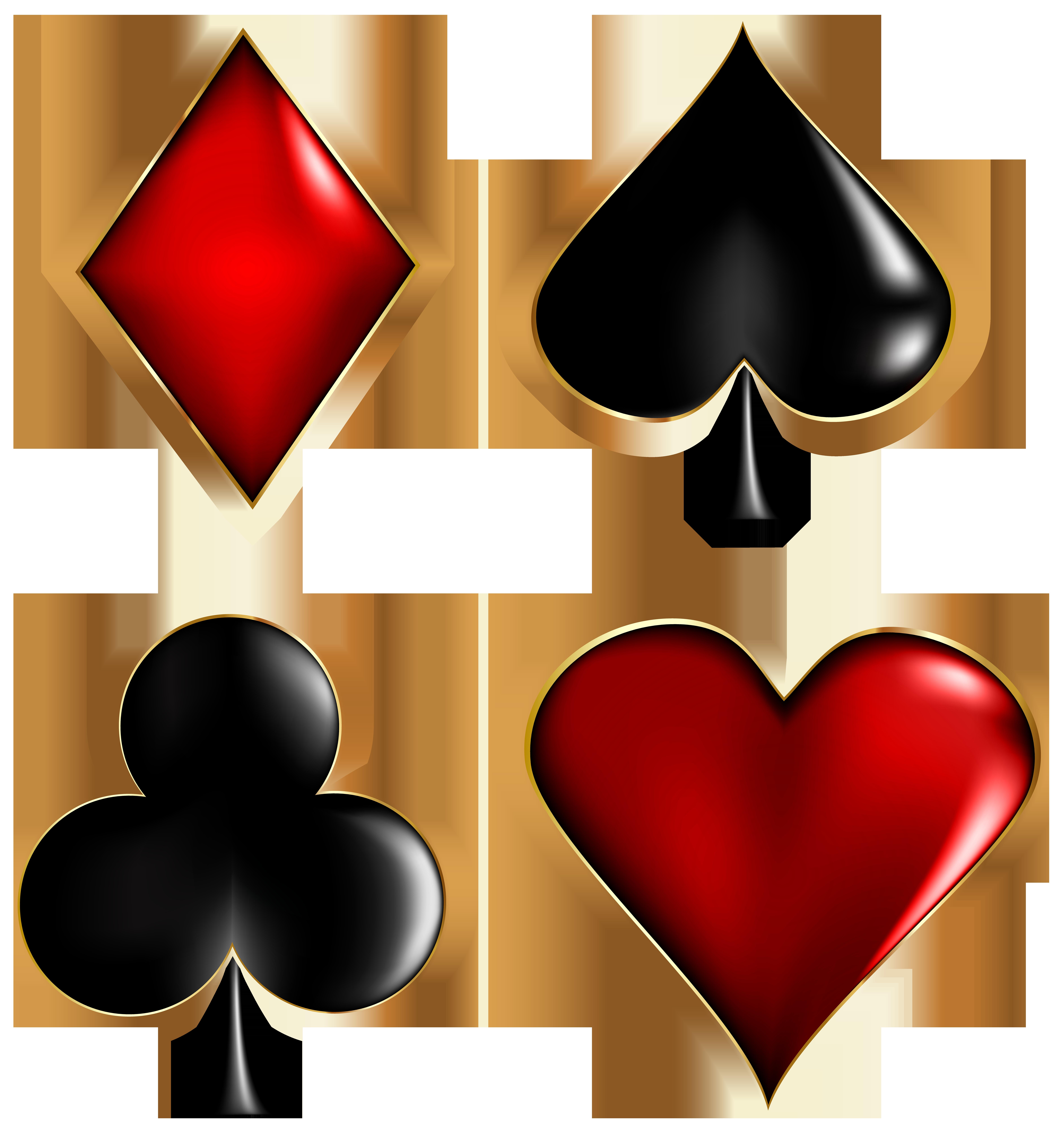 Card Suits Transparent Clip Art Image.
