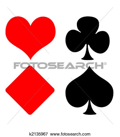 Stock Illustration of Playing card suits k2135967.