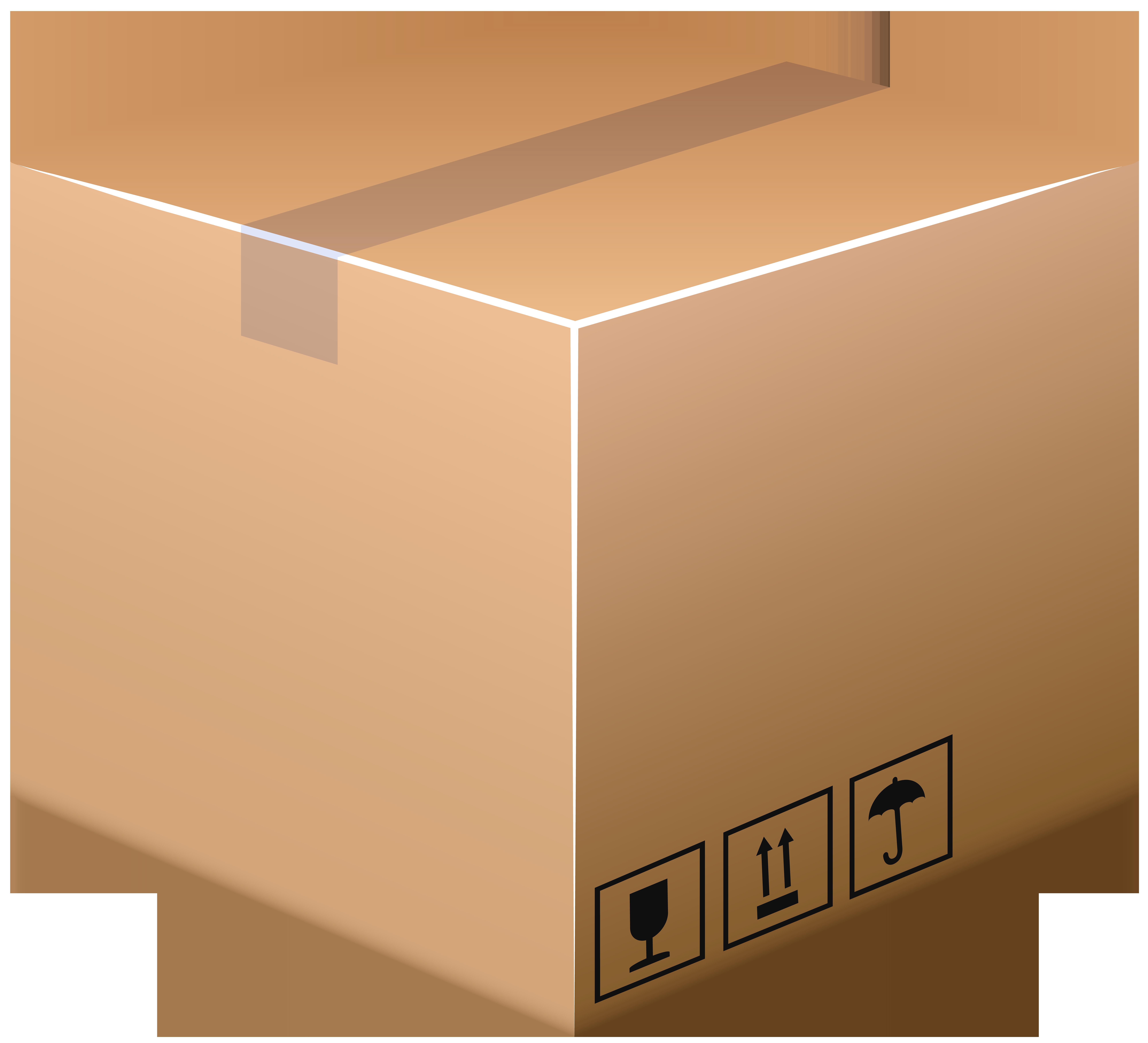 Cardboard Box PNG Clip Art Image.