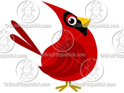 Cartoon Cardinal Clip Art.
