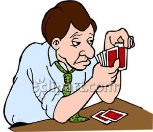 Showing post & media for Cartoon card players clip art.