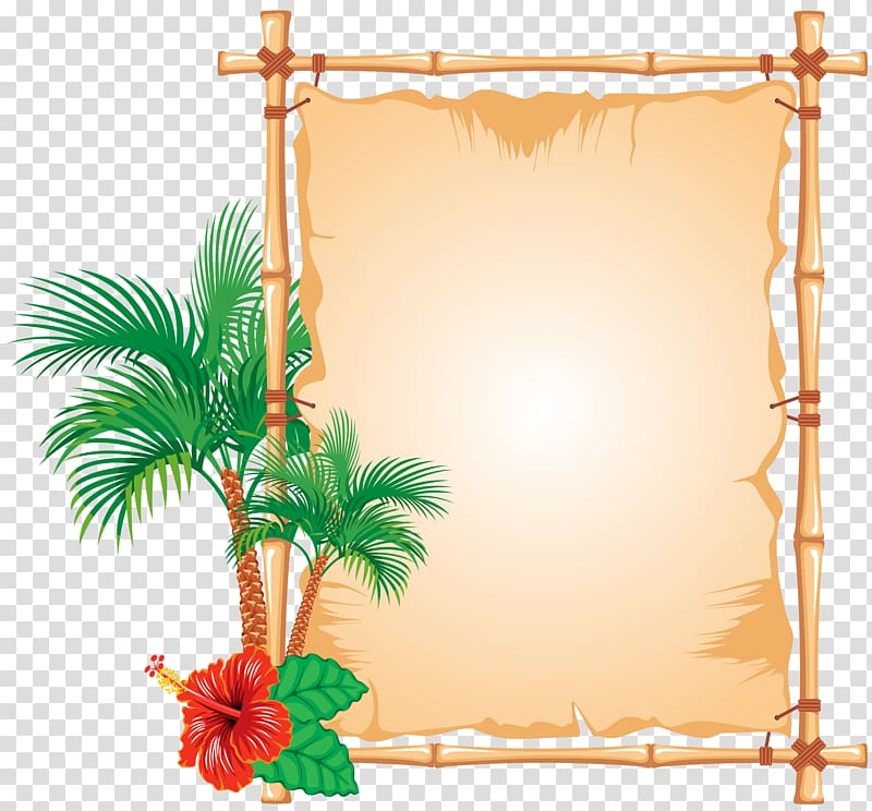 Bamboo Frames, caribbean transparent background PNG clipart.