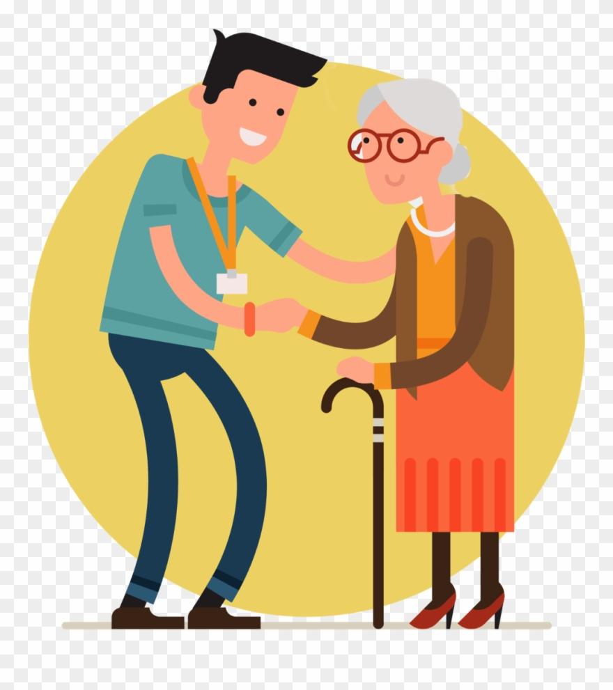Medicinal Clipart Elderly Care.