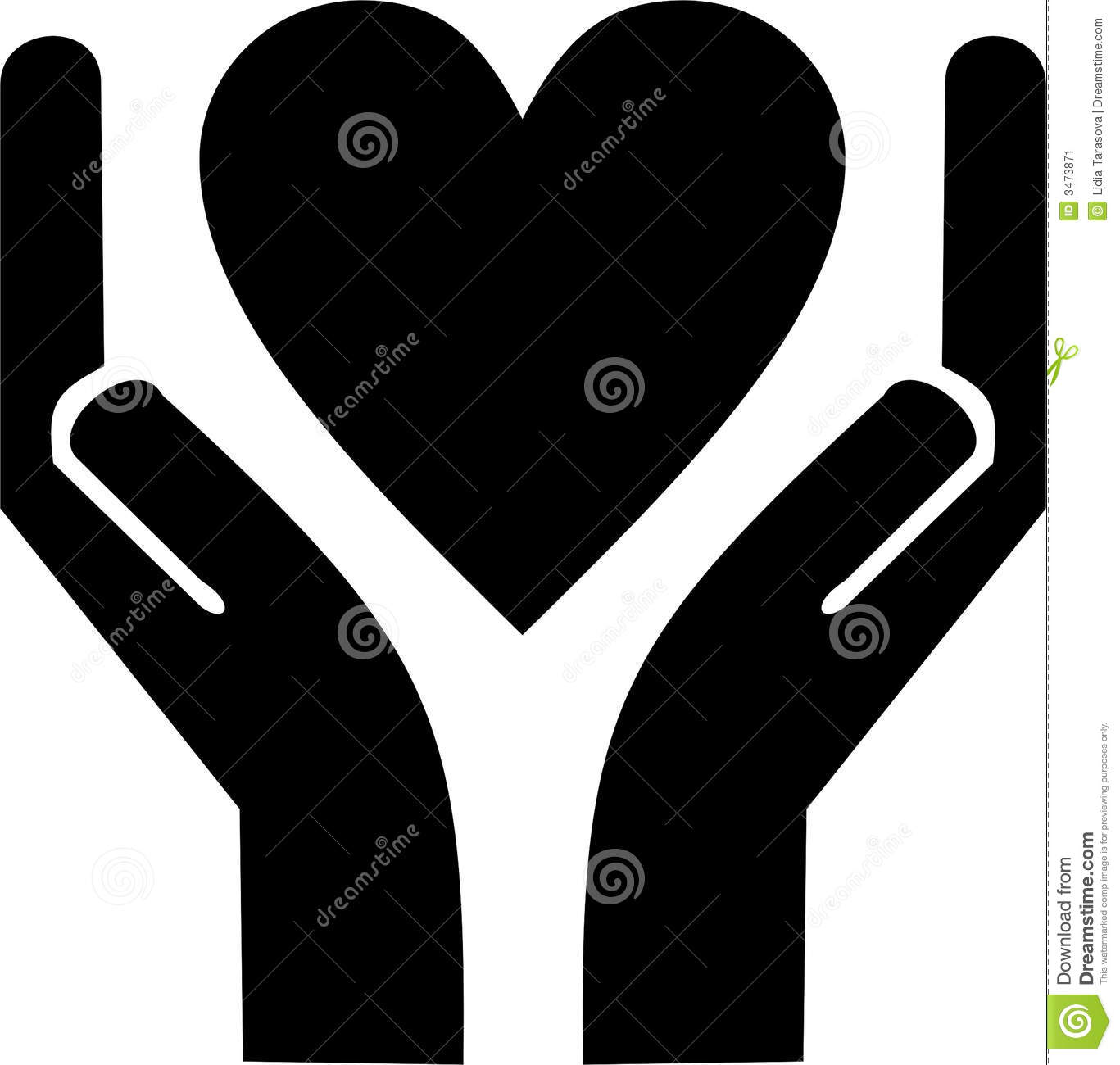Caring Hands Stock Illustrations.