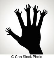 Clipart Vector of Caring hands design..