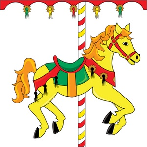 Carousel Horse Clipart Image.