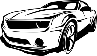 Carro Camaro Vector Limpio Clipart Graphic.