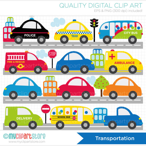 Clipart Cars and Trucks / Vehicles / City Transport /.