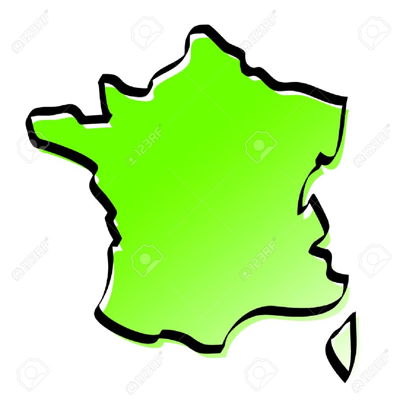 Stylized Map Of France Royalty Free Cliparts, Vectors, And Stock.