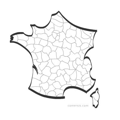 Vector maps France.