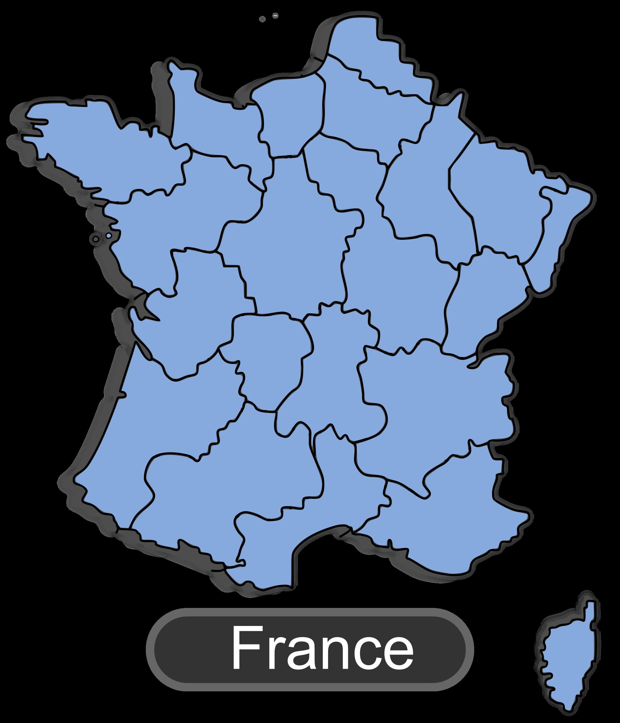 Map Of France Clip Art.