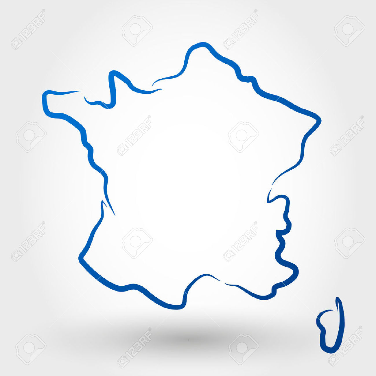 Carte De France. Carte Notion Clip Art Libres De Droits , Vecteurs.