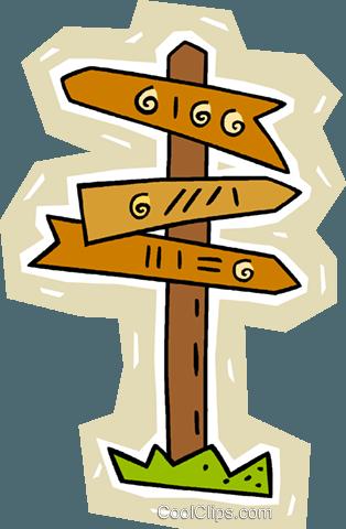 signpost Royalty Free Vector Clip Art illustration.