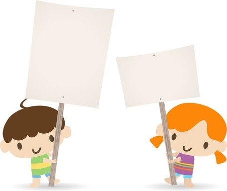 Children Placards Clipart Picture Free Download.