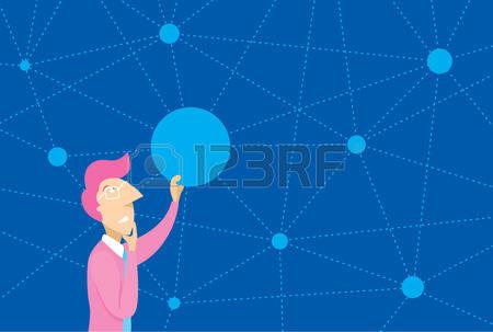 Clipart Cartoon Blue Dot People.