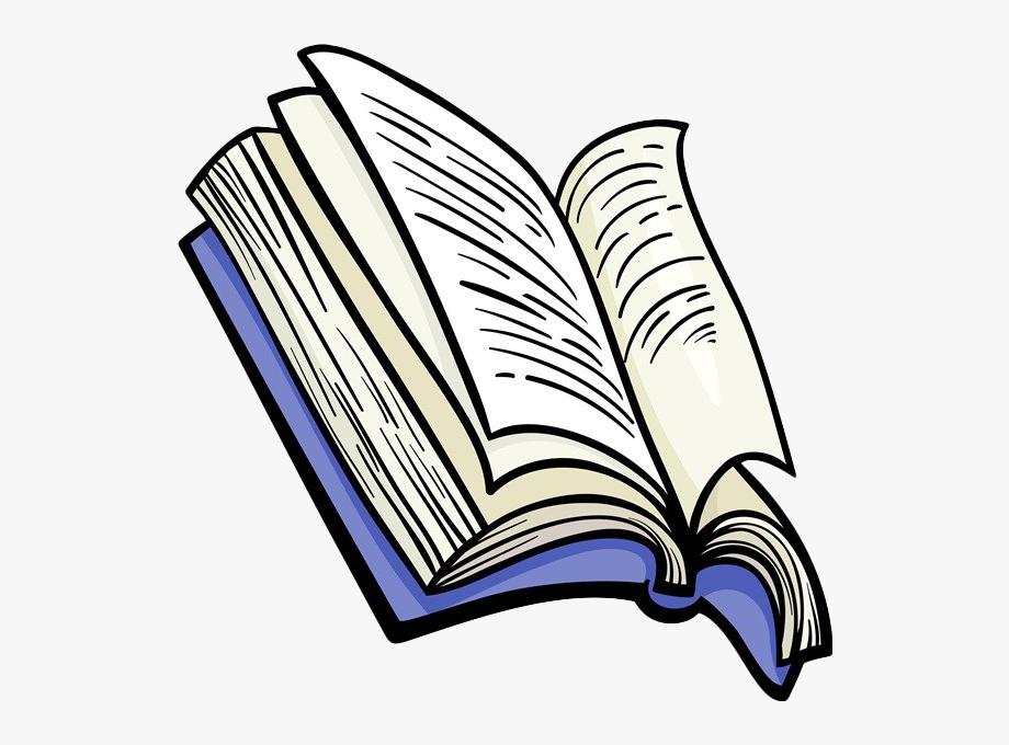 Open Book Cartoon.