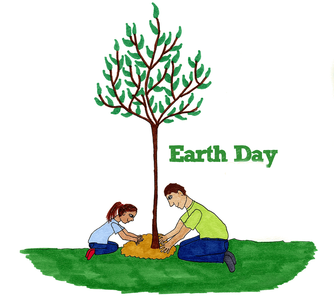 Clipart Cartoon Earth Day.