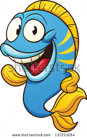 Cartoon Fish Stock Images, Royalty.