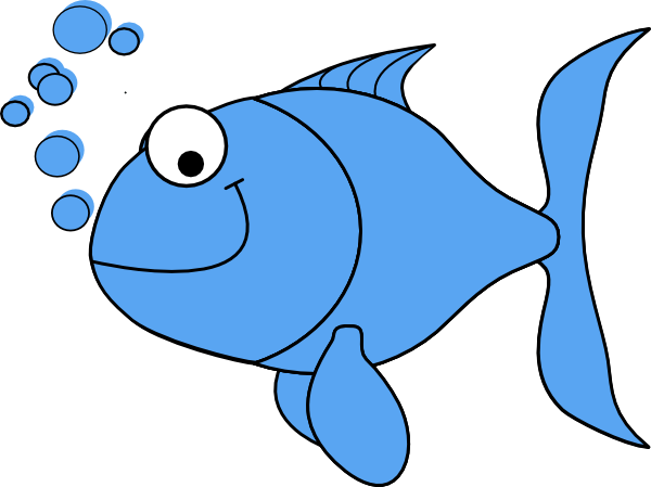 Purple Cartoon Fish.