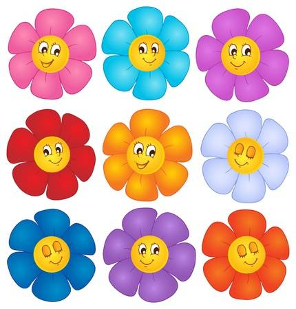 cartoon flowers.