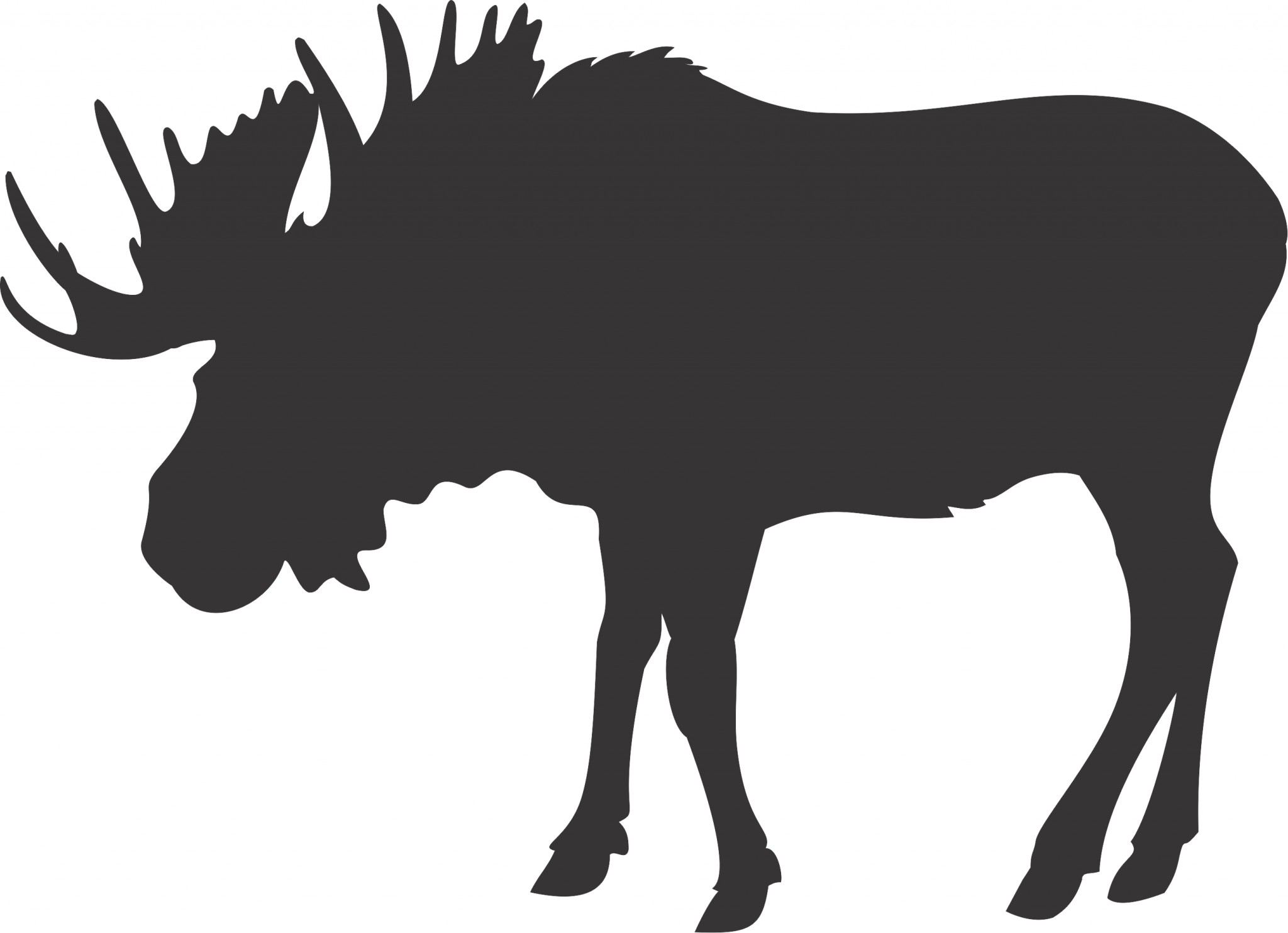 Moose Head Silhouette Clip Art.