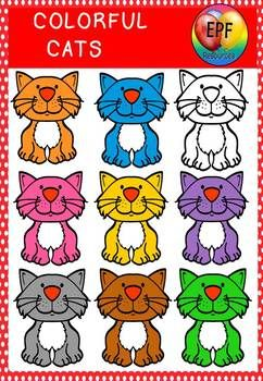 Colorful cats.