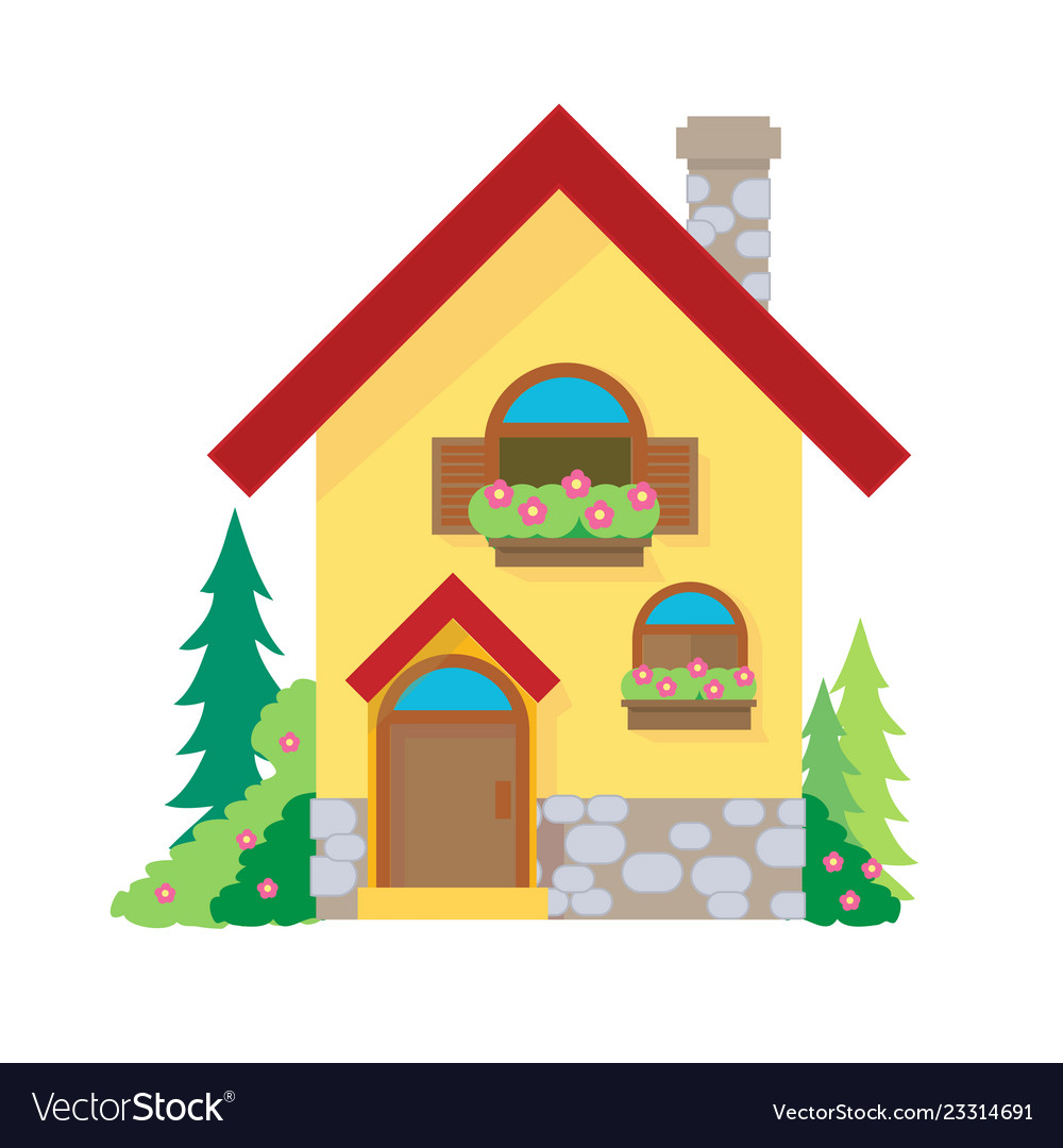 House cartoon or house clipart cartoon.