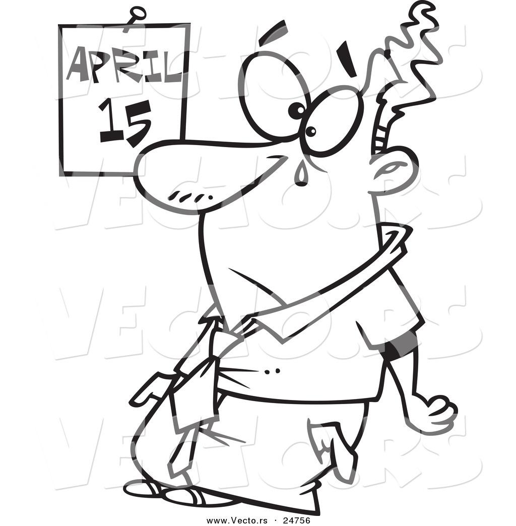 clipart cartoon tax day - Clipground