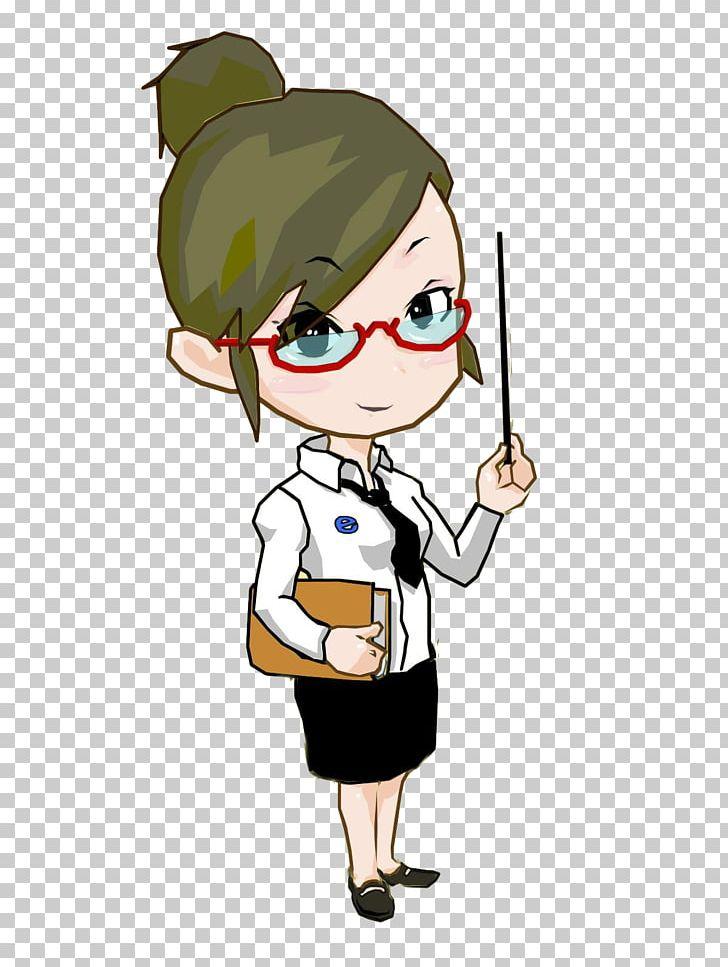 Cartoon Teacher PNG, Clipart, Black, Black Skirt, Child.