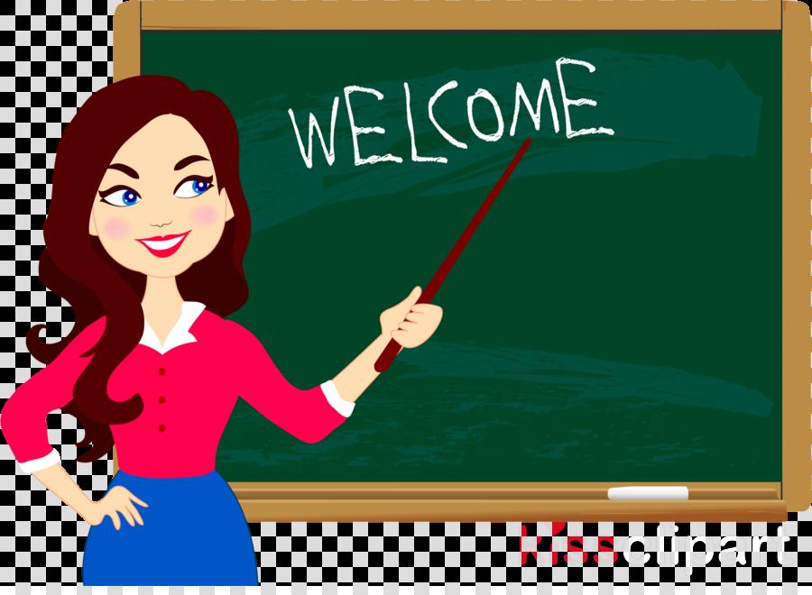 blackboard cartoon teacher whiteboard room clipart.