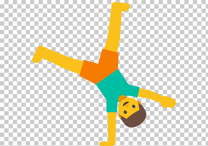 Emojipedia Cartwheel Gymnastics Emoticon, Emoji PNG clipart.