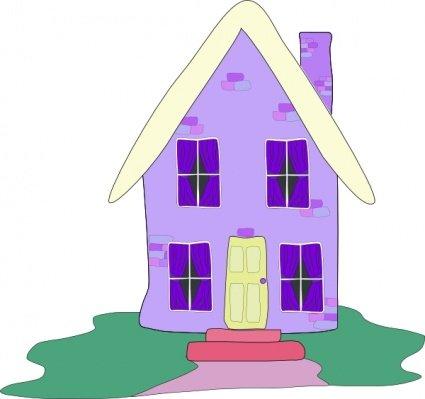 Clip art e grafiche vettoriali gratuite di Casa lilla.