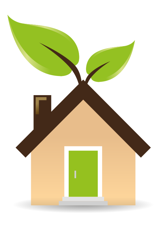 Free Clipart: Casa ecologica.