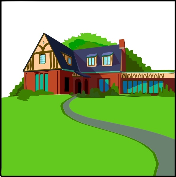 Casa In Campagna clip art Free vector in Open office drawing svg.