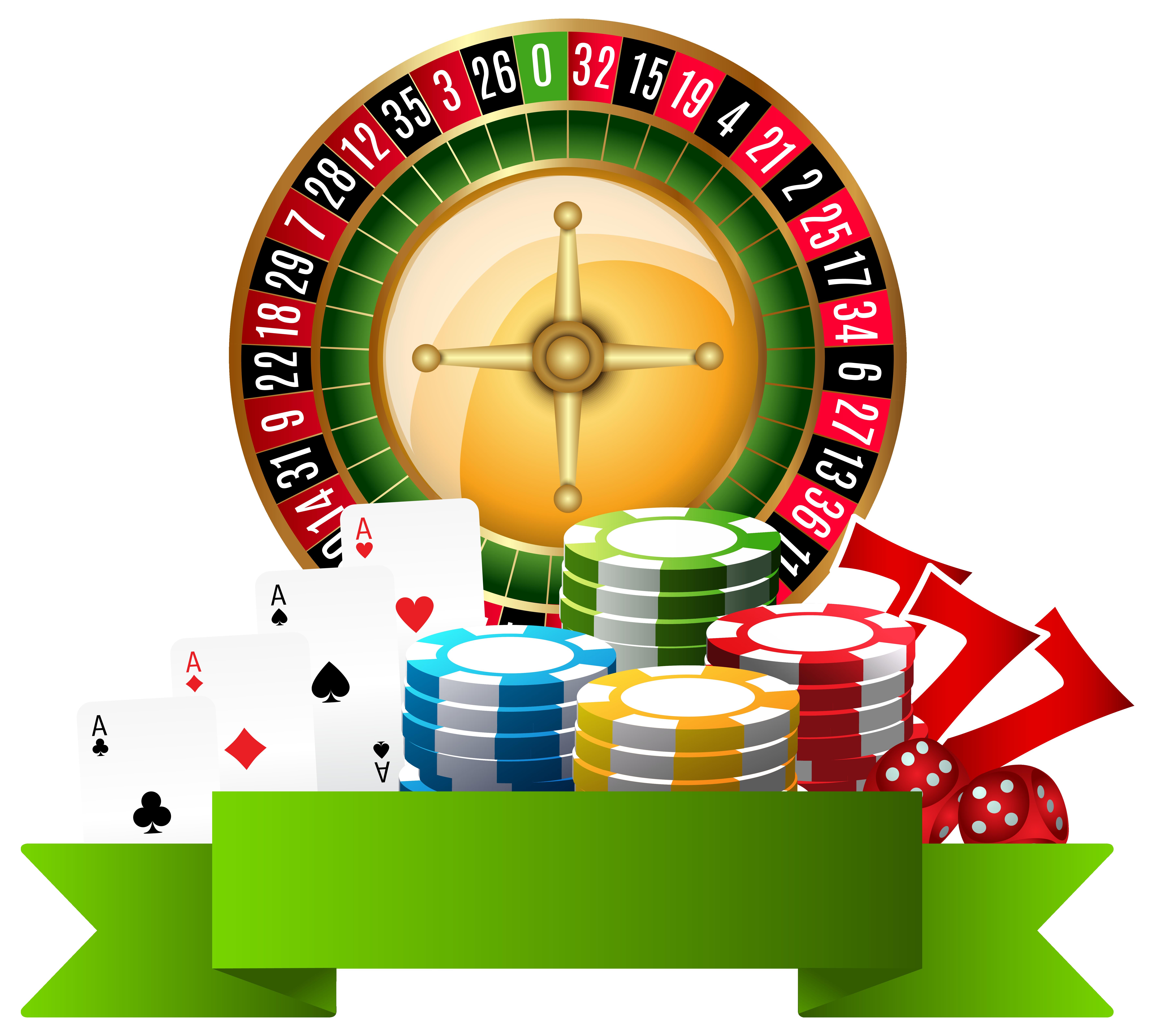 Casino Decoration PNG Clip Art.