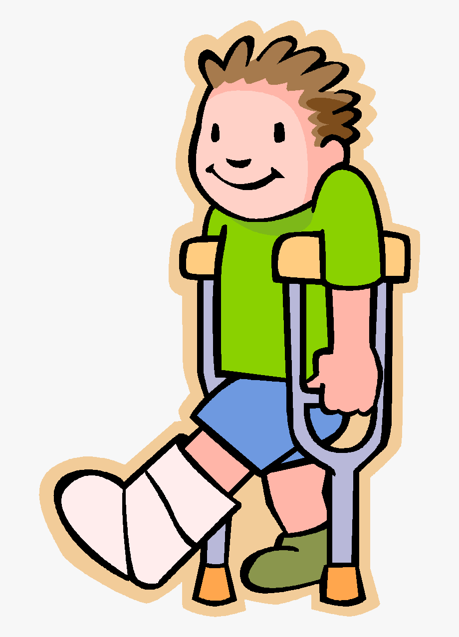 Clip Art Leg Cast Graphic.