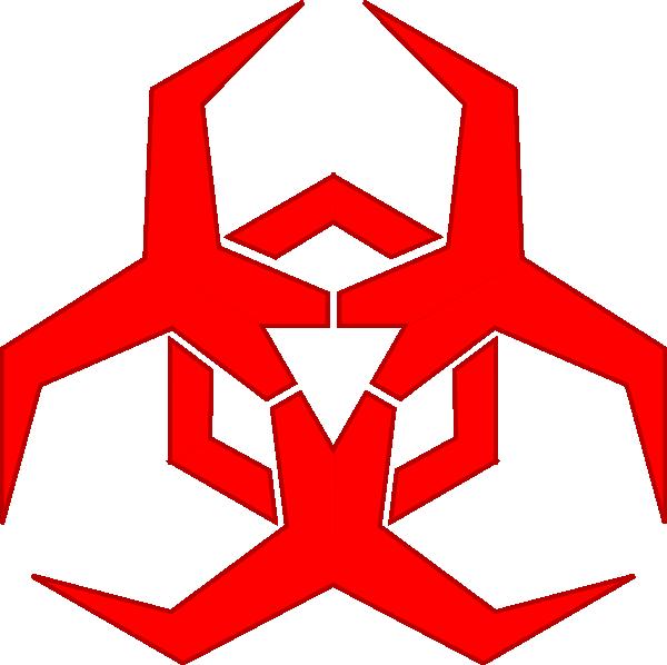 Pbcrichton Malware Hazard Symbol Red clip art Free Vector / 4Vector.