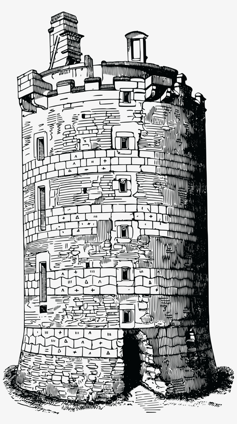 Free Clipart Of A Fortress Tower.