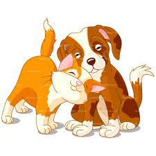 Image result for cartoon cat dog clip art.