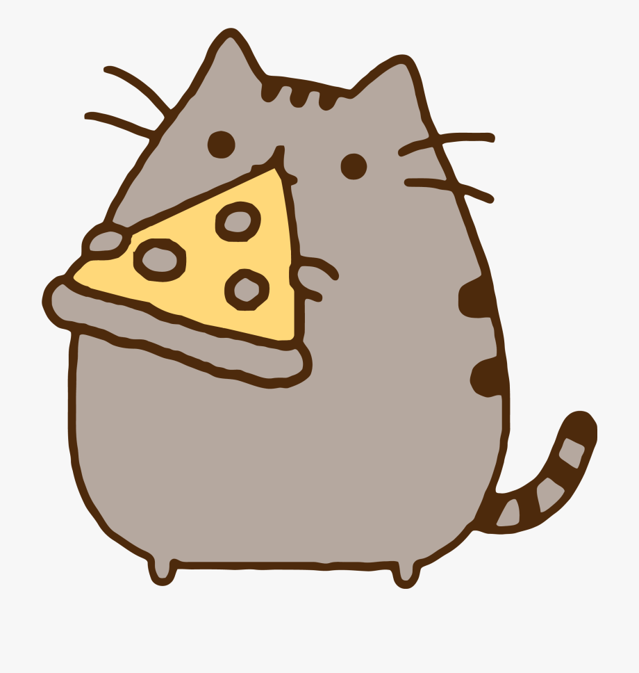 Eating Pizza Clipart.