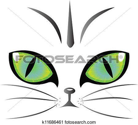 Cat eyes logo vector Clipart.