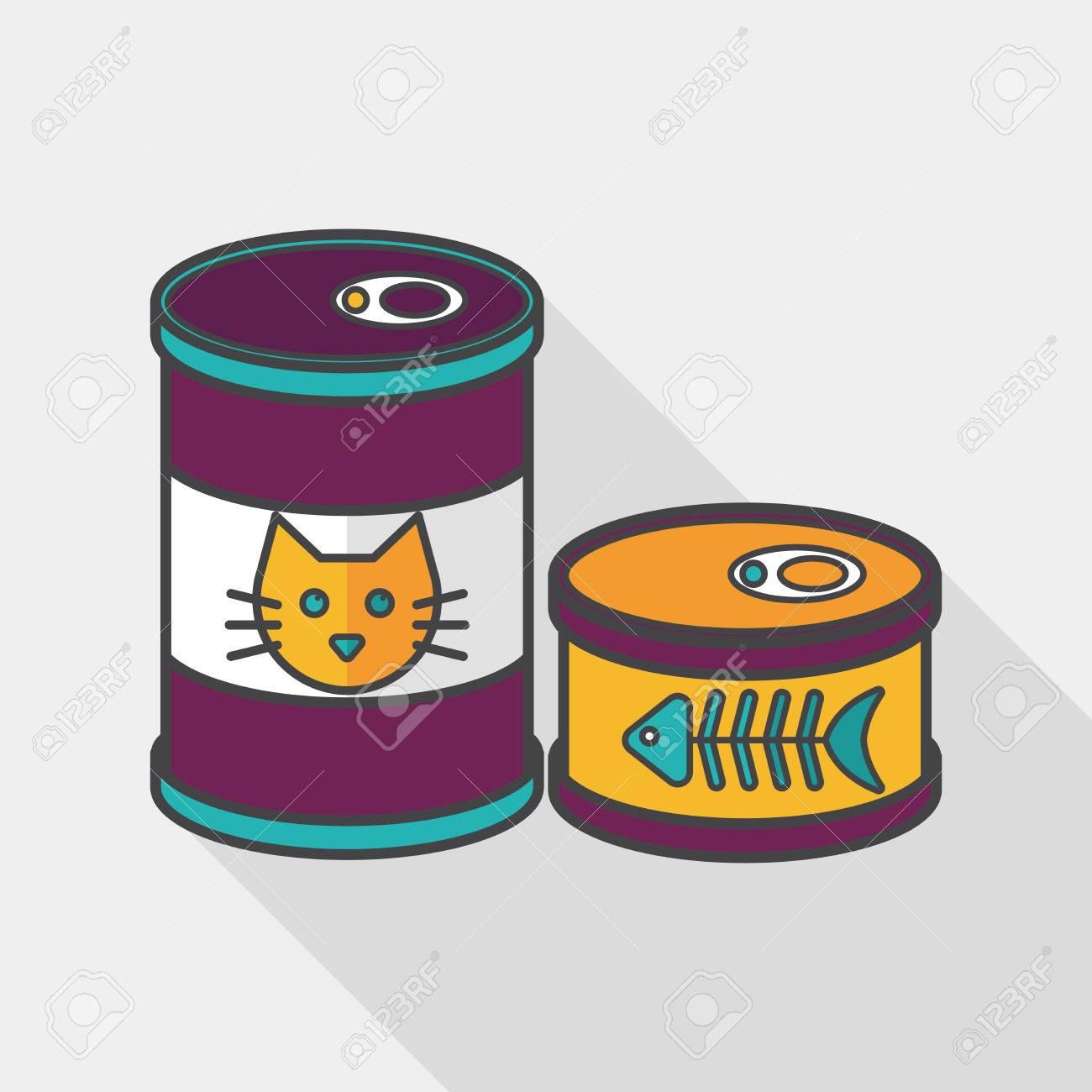 Cat Food Can Clipart.