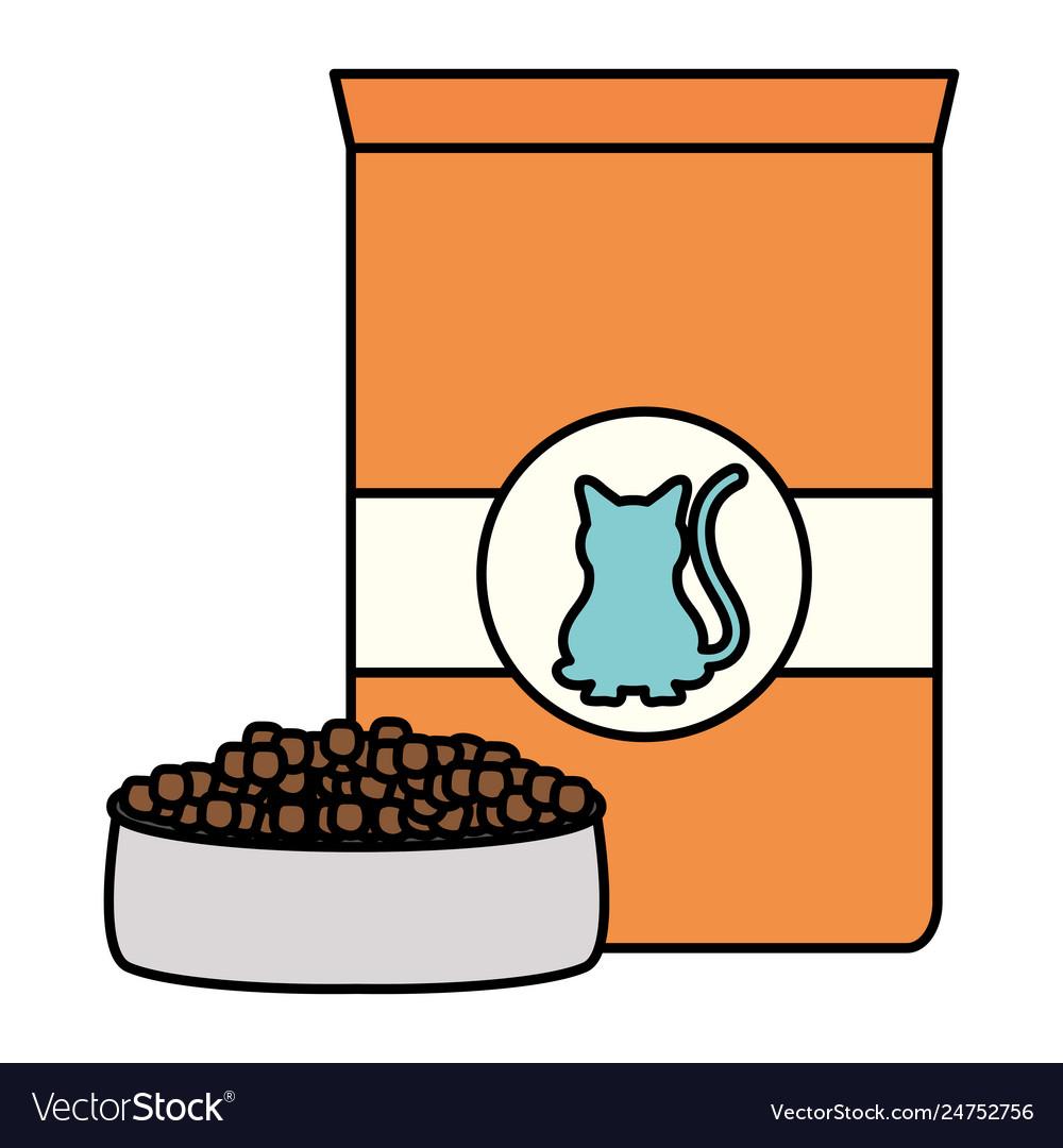 Cat pet food bag icon.