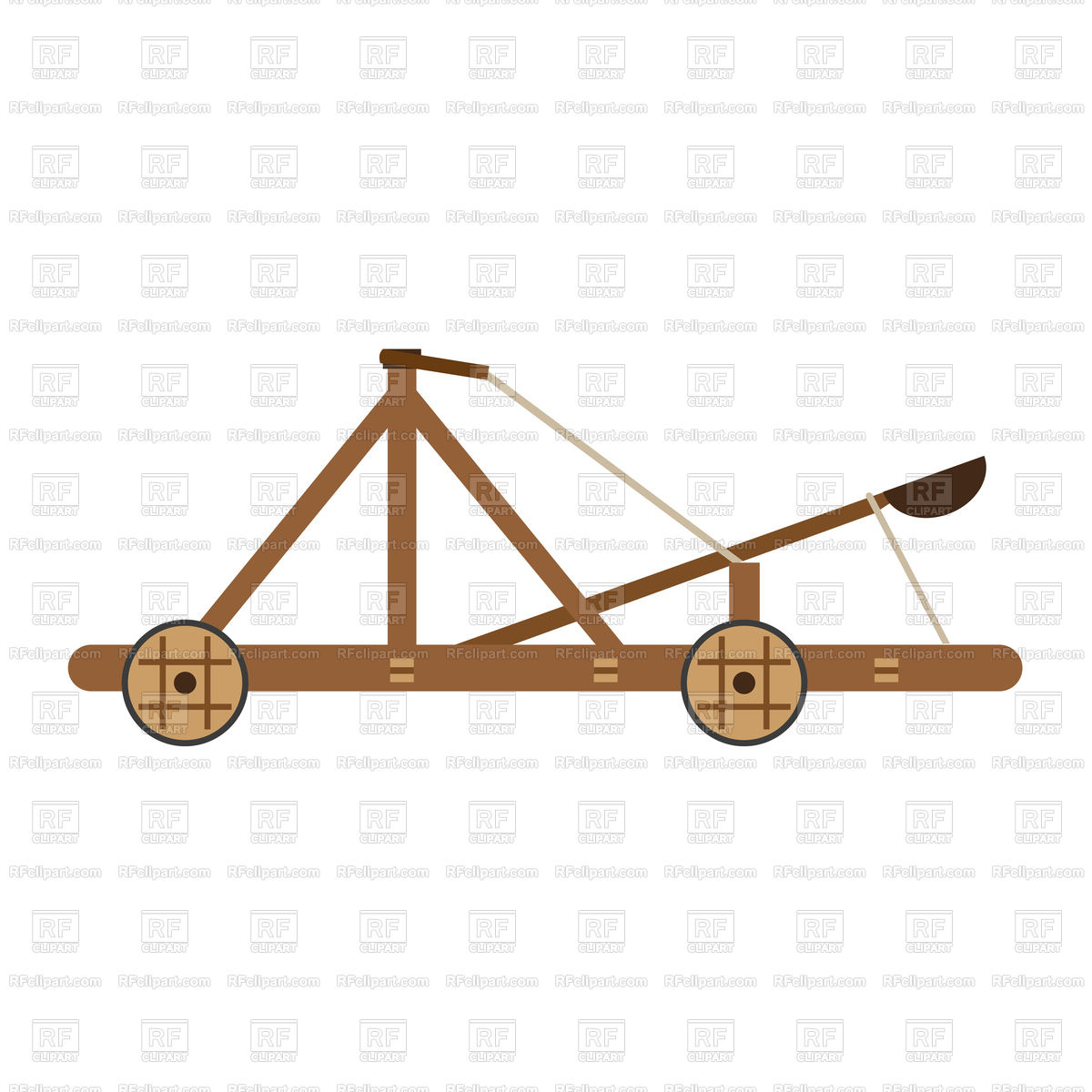 Catapult medieval icon Stock Vector Image.