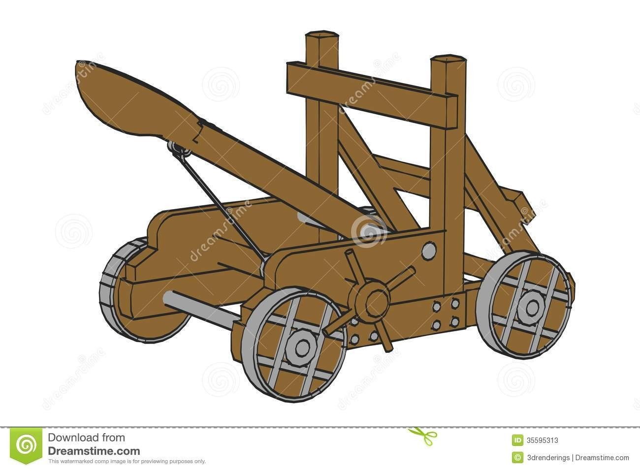 With Clipart Of A Catapult Stock Illustrations 448.