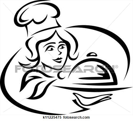 Clipart Catered Meal Woman.
