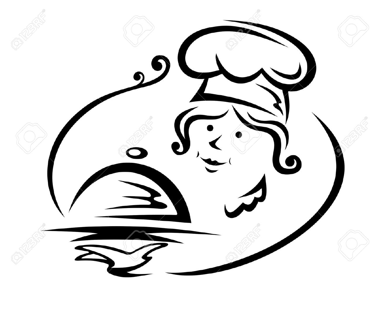 Female Catering Clipart.