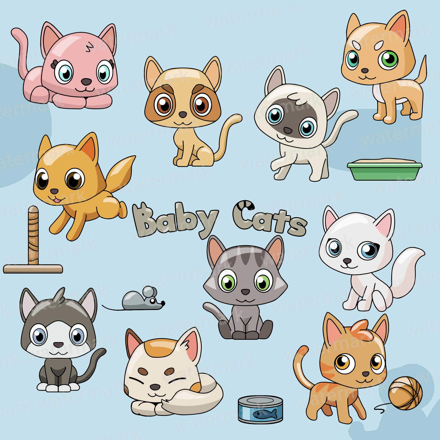 Cat Clipart, cats clipart, kitten clipart, kittens clipart, clipart, clip  art, cute cats clipart, cats, kittens, cat, kitten, pets clipart.