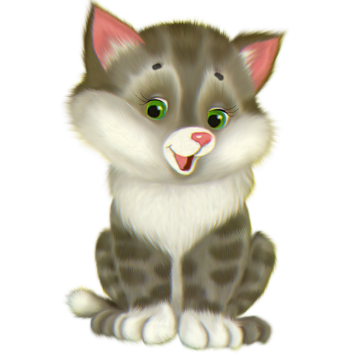 Cute Kitten Cartoon Free Clipart.