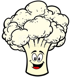 Cauliflower Mascot premium clipart.